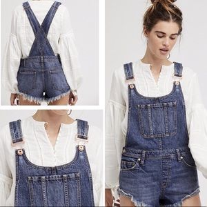 [Send Offers] Free People • Jean Overall Shorts